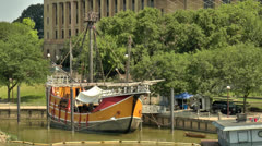 Santa Maria replica in Columbus, Ohio Stock Footage
