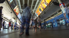 Bangkok BTS station Stock Footage