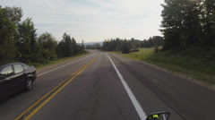 POV of Motorcycle Rider in Michigan's Upper Peninsula Stock Footage