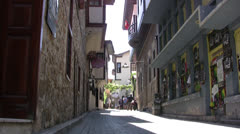 Kaleici Old Town view 02 Stock Footage