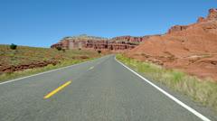 Time Lapse POV of Driving through Capital Reef  Utah - 4K Stock Footage
