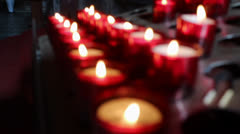 Candles in the church - stock footage