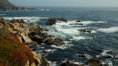 Waves Crashing on Rocks and Cliffs Stock Footage
