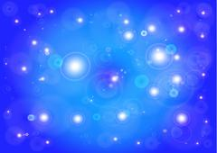 Star with lens flare Stock Photos