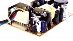 Small power regulator circuit board vertical pan 2 - stock footage