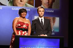 Chandra wilson and jim parson.61st primetime emmy awards nomination announcem Stock Photos