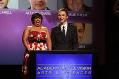 chandra wilson and jim parson.61st primetime emmy awards nomination announcem - stock photo