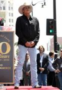 alan jackson is honoured with the 2405th star on the hollywood walk of fame.. - stock photo