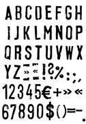 Stock Illustration of grunge alphabet - vector