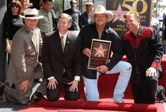 Stock Photo of alan jackson is honoured with the 2405th star on the hollywood walk of fame..