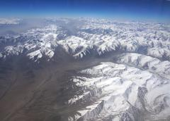 Aerial view of karakoram mountains of sinkiang, china Stock Photos