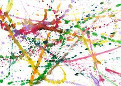 blobs of paint - stock illustration