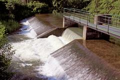 a water dam - stock photo
