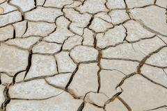 dry soil in arid areas . - stock photo