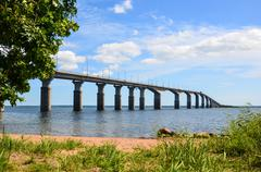 Oland bridge, sweden Stock Photos