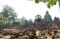 bayon in angkor, cambodia - stock photo