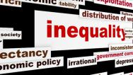 Stock Video Footage of Inequality business words design