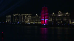 Stock Video Footage of The sailing ship with the crimson sails