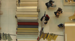 Timelapse Family Shopping Overhead POV HD Stock Footage