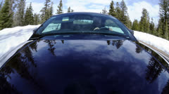 POV of Driving on Winter Snow Filled Road - 4K Stock Footage