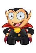 vampire mascot - hands on hips - stock illustration
