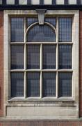 Stock Photo of ornate leaded window
