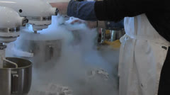Making Liquid Nitrogen Ice Cream Stock Footage