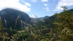 Landscape of the french Pyrenees Stock Footage