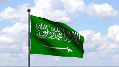 Animated Flag of Saudi Arabia - stock footage