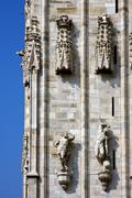 Church in milan and sky Stock Photos