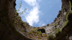 Tower ruins of an old Cathars fortress Stock Footage