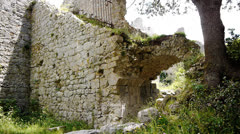 Stock Video Footage of Old ruin of the Cathars