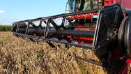 Stock Video Footage of Wheat harvester slow motion