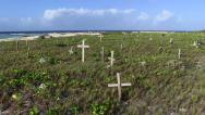 Stock Video Footage of Graves by the Sea