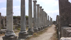 Line of columns at Perge Stock Footage
