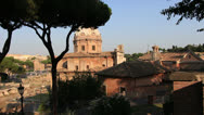 Stock Video Footage of Ancient roof top in Rome, dolly shot