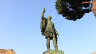 Stock Video Footage of Caesar statue (dolly 1) in Rome