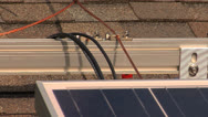 Stock Video Footage of wires for Solar panel installation