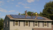 Stock Video Footage of More Solar panel installation