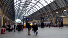 London King´s Cross station Stock Footage