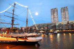 Puerto madero in buenos aires. Stock Photos