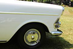 Front of an oldtimer Stock Photos