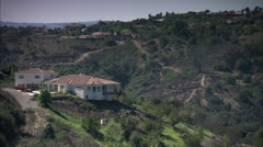 Lone House On Top Of Vast Valley HD Video Stock Footage