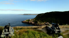 Canons with Fort Amherst in Background Stock Footage