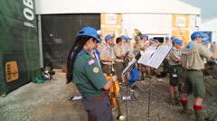 Boy Scouts enjoy 2013 Jamboree in West Virginia - stock footage