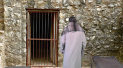 Paul paces in prison I Stock Footage