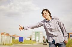 Stock Photo of hitchhiking - need a drive