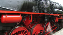 Steam locomotive under pressure - full screen Stock Footage