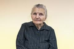 Stock Photo of portrait of an old woman.