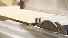 Carpenter workshop - table saw 3 Stock Footage